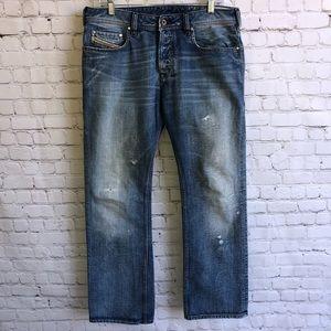 DIESEL Men's Distresses Jeans Size 32L 32W